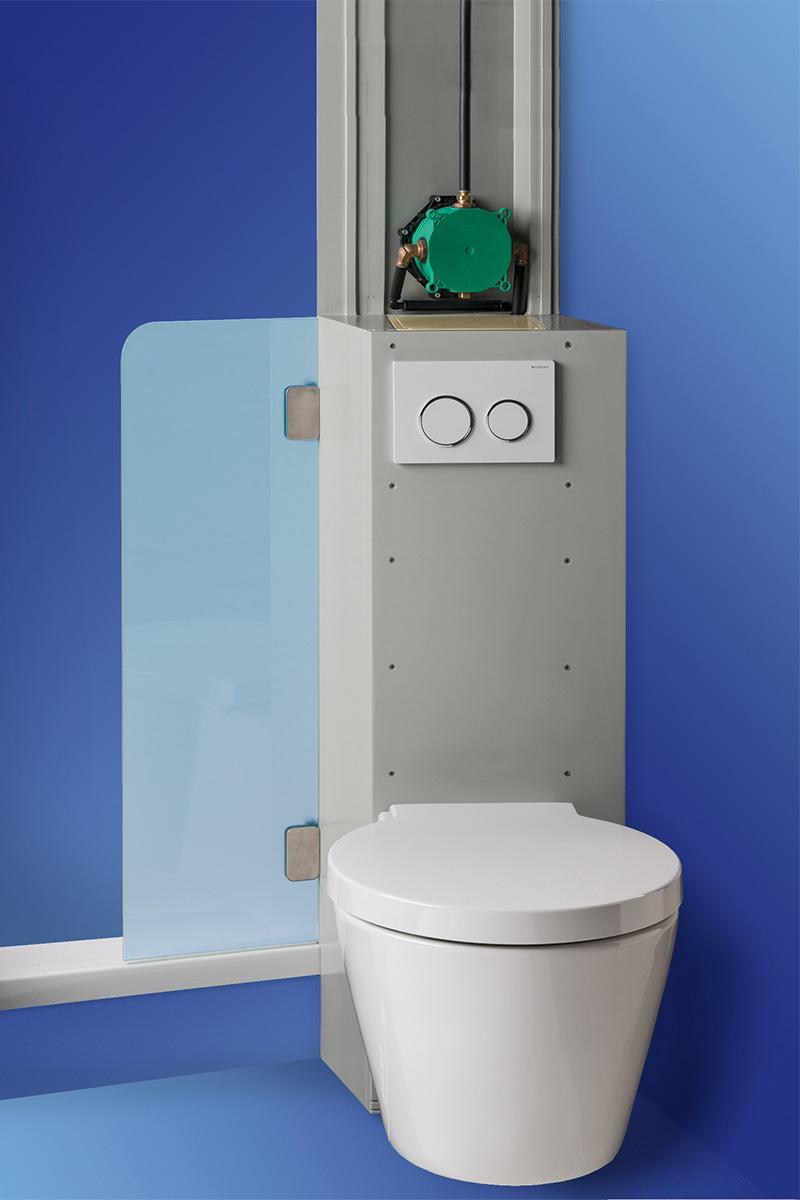 """SLIM-Block installation example in a """"narrow bathroom"""""""