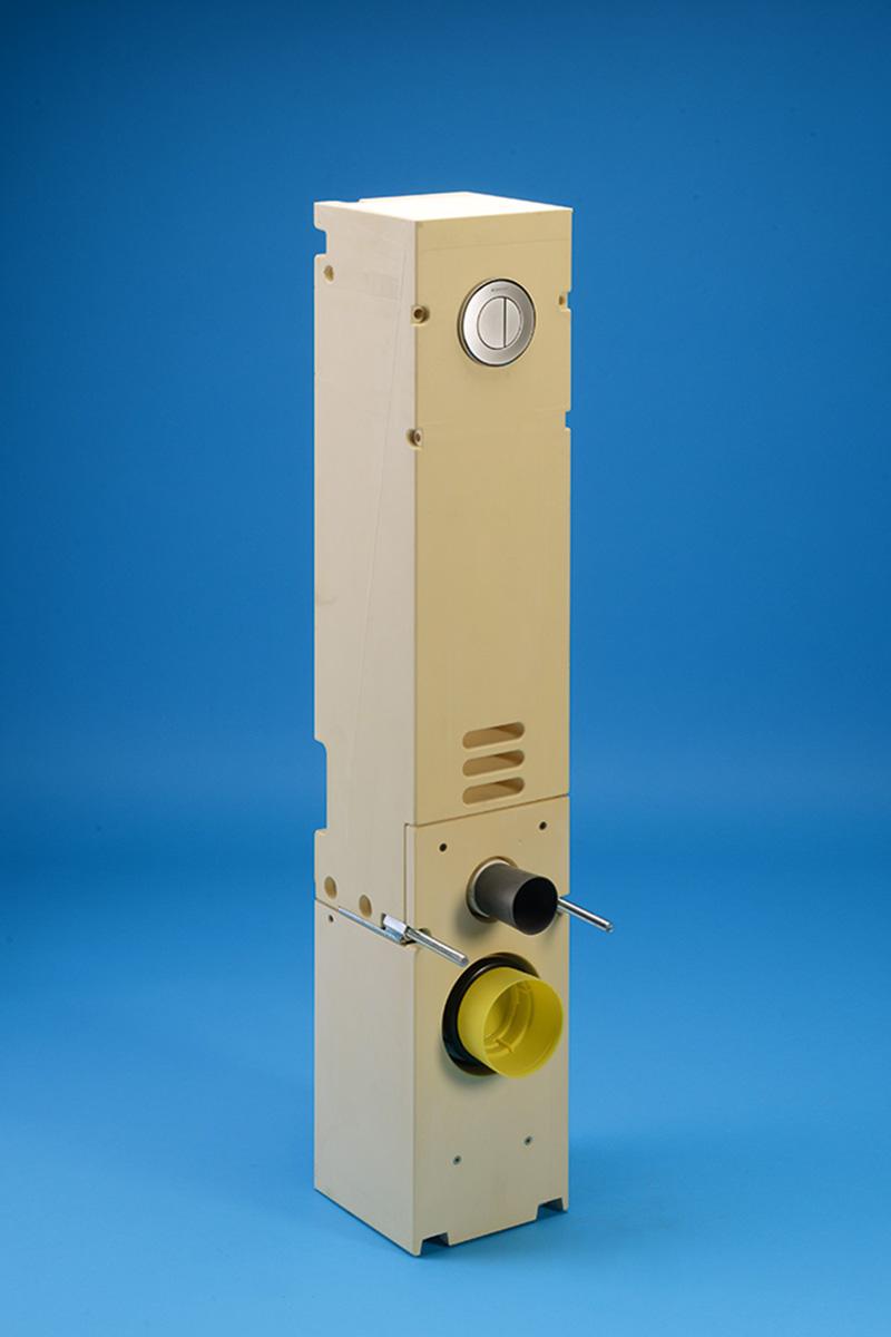 WC-Stein 20 cm schmal SLIM-Block mit pneumatischer Druckknopfbetätigung