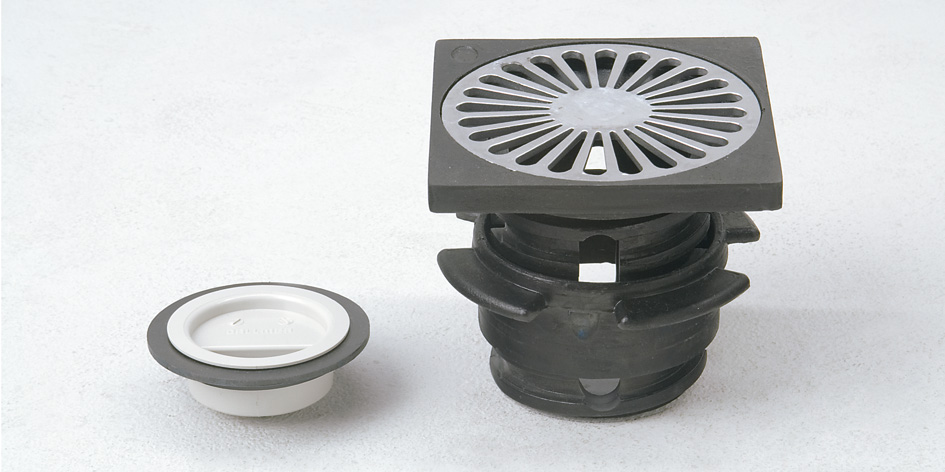 Grumbach Universal drain with clamp flange