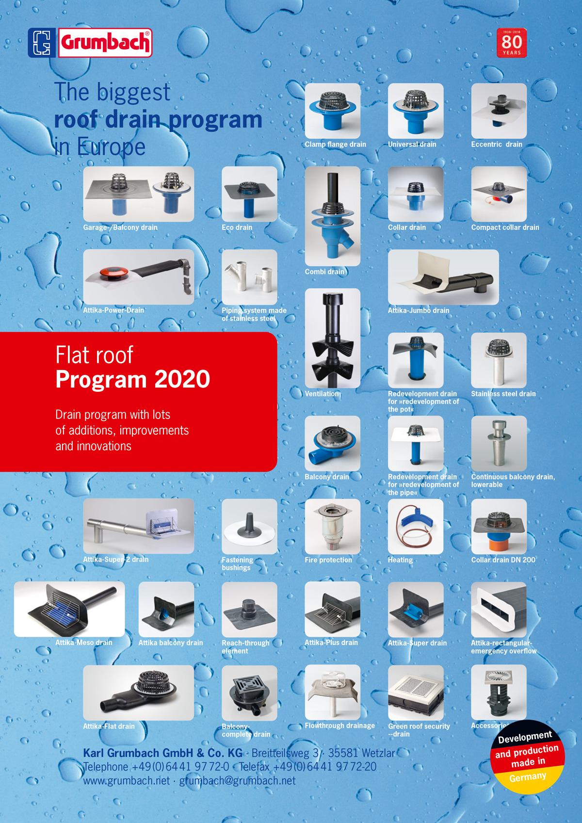 Grumbach Flat roof program 2020